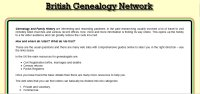 British Genealogy Network screen shot